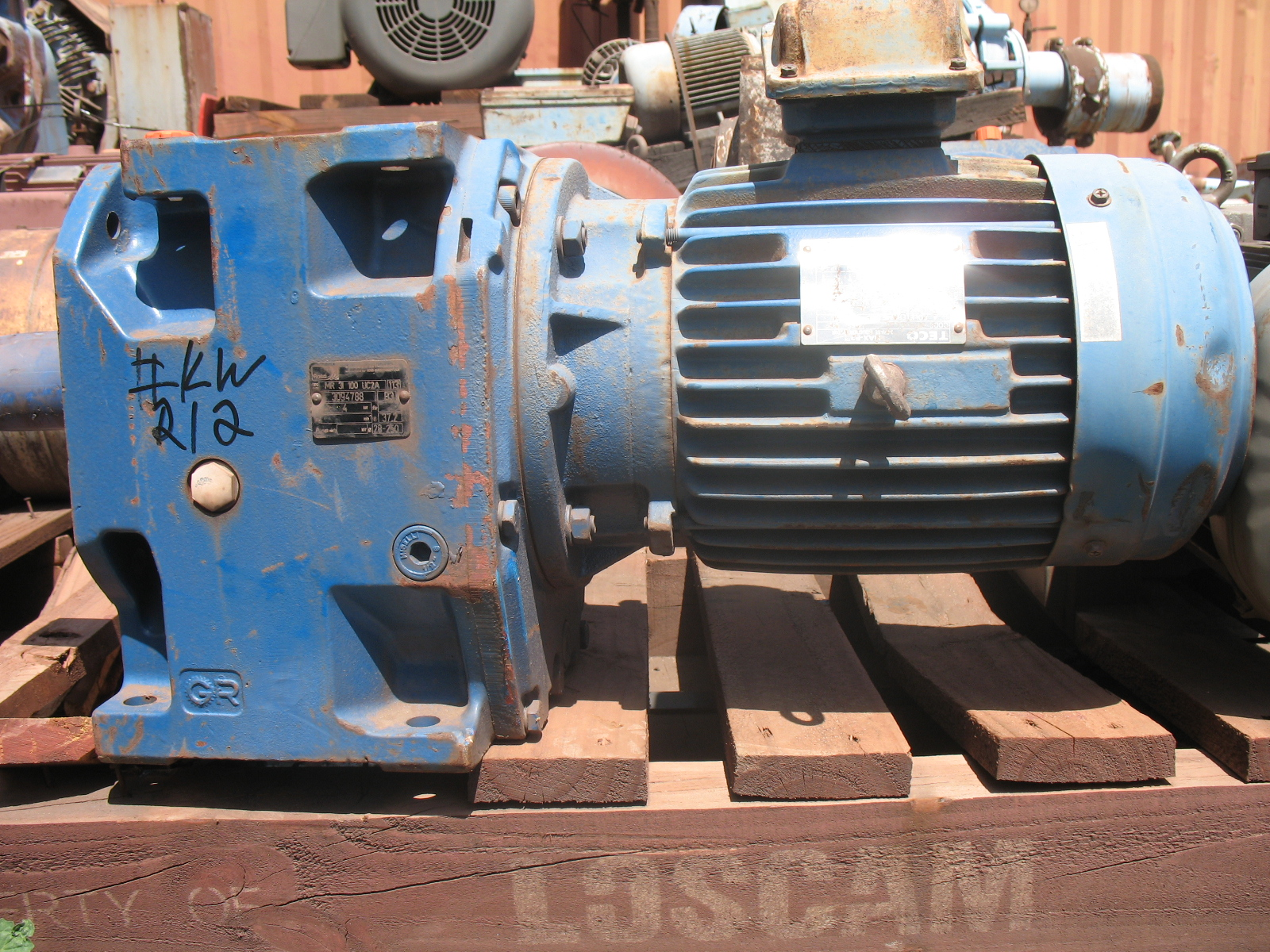 Teco Rossi Motor Gear Box Reducer Crushing Services