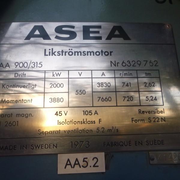 # K 655 ASEA 2 MW Motor Housing-Field Winding  Typical  Ser No 632976 (2)