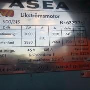 # K 656 ASEA 2 MW DC  Motor 550V 3830 A Ser No 6329762  (7)