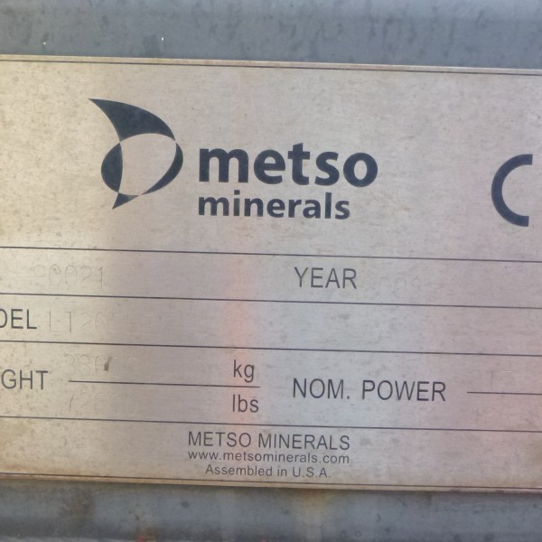 # K 688 Metso LT 200 Track M-C Plant Ser No 90021 Yr 2008 Cone Ser No 30301181 Hours 5293 P 317KW  (20)