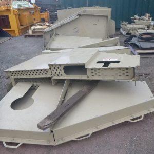 # K 713  6 Off  Astec JCI 20 x 6 TD Drive Guards Fabricated (1)